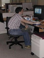 Má postura - ergonomia